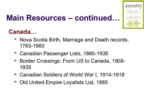 Columbia Birth Marriage Records Digging For Your Roots 2012 Ancestry Library Edition Database