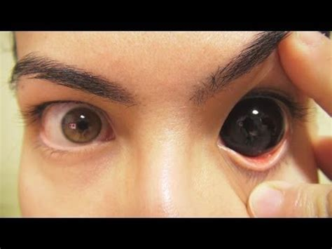 eye tattoo contacts how to insert and remove black sclera contact lenses