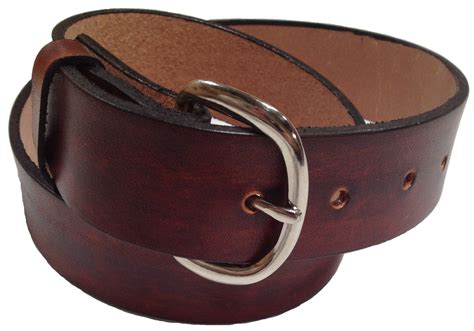 Handmade Mens Leather Belts - handmade mens leather belt 1 5 quot wide brown or black