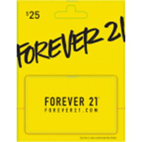 Forever21 Gift Cards - forever 21 25 gift card 1 00 ct albertsons
