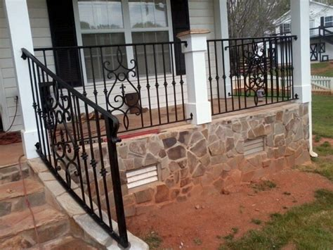 wrought iron front porch railings exterior wrought iron handrail railing mediterranean