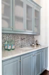 blue cabinets design ideas white glass tile backsplash home design ideas