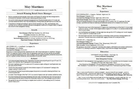 exclusive resume examples for retail 16 store manager example cv