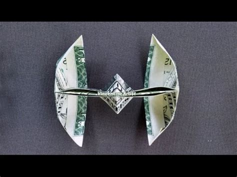 Origami Tie Fighter - wars tie fighter how to fold a dollar