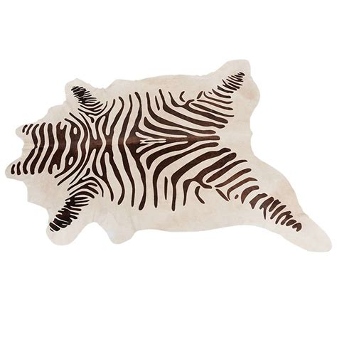 coco zebra chocolate zebra sted cowhide for sale at 1stdibs