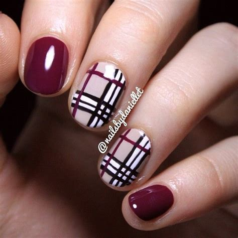 burberry pattern nails neutral nail art ideas aelida
