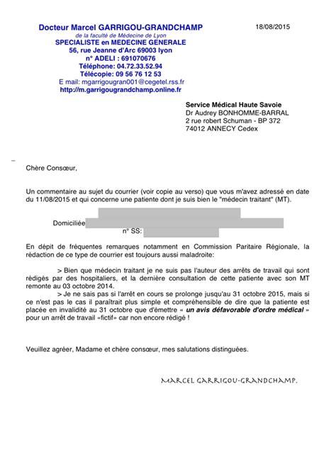Modèle Lettre Contestation Comité Médical 15 lettre pour medecin specialiste empereur