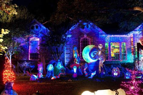 beautiful nightmare before christmas home decor on the halloween house round rock tx private residence