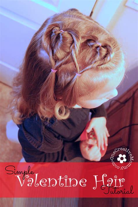 valentines day hair easy hair style tutorial onecreativemommy