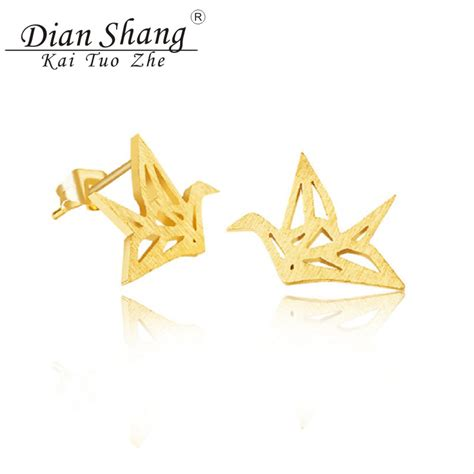 Gold Origami Paper - dianshangkaituozhe small gold silver origami paper crane