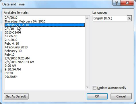 date format how to add automatic date in excel 2010 how to change