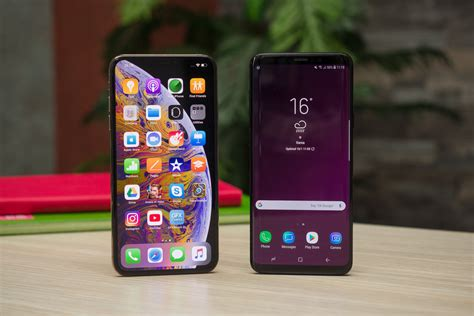 iphone xs max vs galaxy s9 collections photos