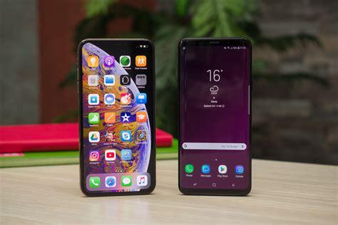 apple iphone xs max vs samsung galaxy s9 s9 phonearena