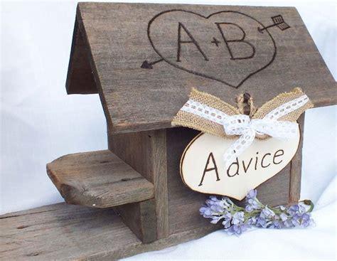 Wedding Advice Box by Wedding Advice Box Birdhouse Advice For By
