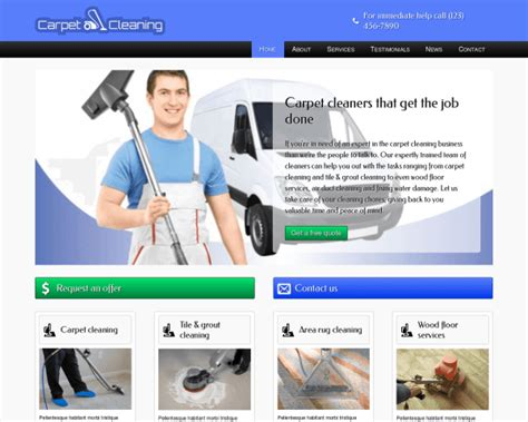 96 Cleaning Website Templates Free Download Free Cleaning Service Flyer Psd Template For Carpet Cleaning Website Template