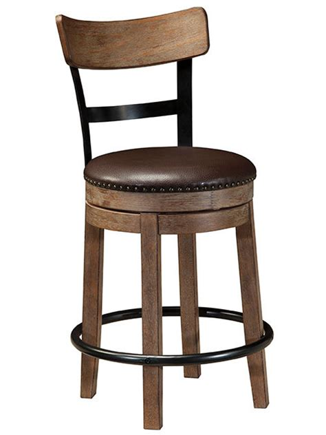 24 Inch Swivel Stools by Pinnadel 24 Inch Swivel Stool With Back The Furniture Mart