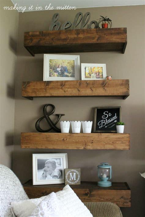 making    mitten diy wood shelves