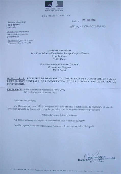 Exemple De Lettre De Demande Permission Fsf Dcssi