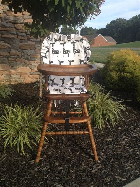 giraffe high chair wooden highchair cover giraffe back seat by