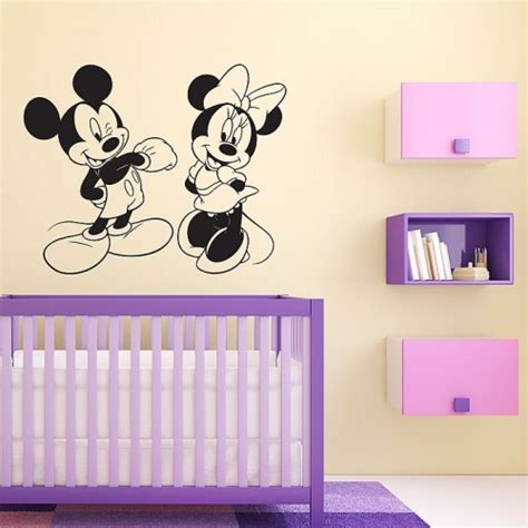 mickey mouse and minnie mouse wall sticker home decor disney character mickey and minnie mouse vinyl wall art decal