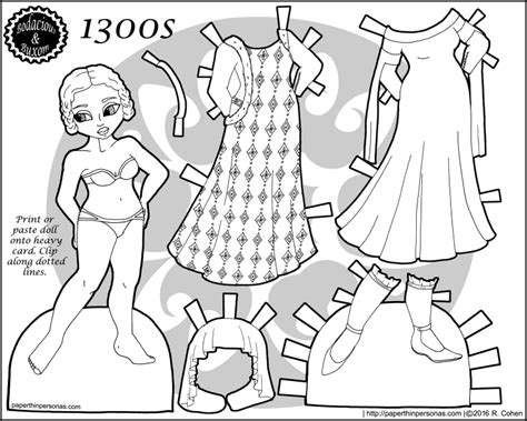 fashion doll coloring pages paper doll clothes coloring pages