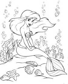 ariel coloring mermaid coloring pages coloringpagesabc