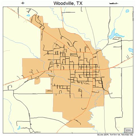 woodville texas map woodville texas map 4880212