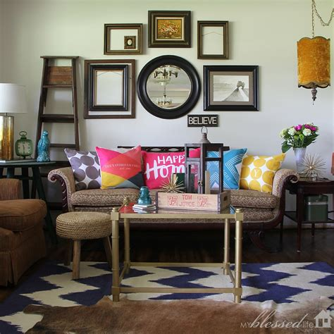 happy rooms accessorize your living room with color 100 tiny prints