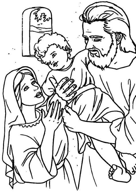 catholic coloring pages for kindergarten catholic holy family coloring page art pinterest