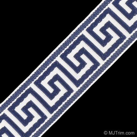 Bathroom Chandeliers Ideas Greek Key Jacquard White Navy Traditional Fabric By