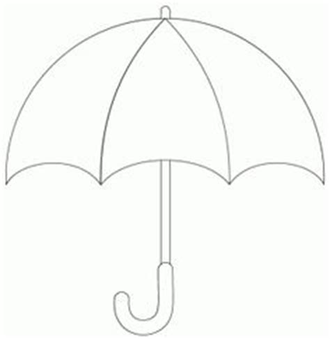 blank umbrella template cut out umbrellas images clipart best