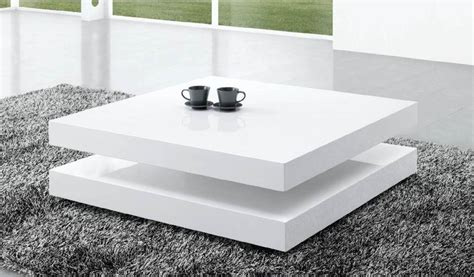 stijlvolle salontafel verkant deze hoogglans witte salontafel is ontworpen in een