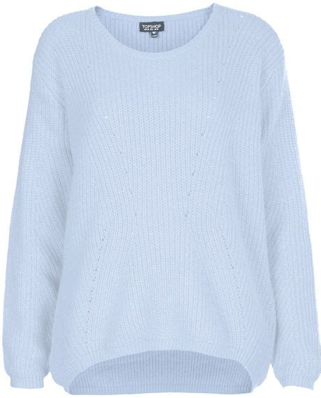 Light Blue Sweater by Topshop Clean Ribbed Sweater In Blue Light Blue Lyst