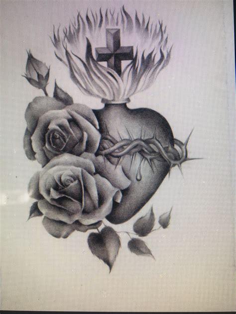 sacred heart tattoo design pin by cynthia garcia on my next