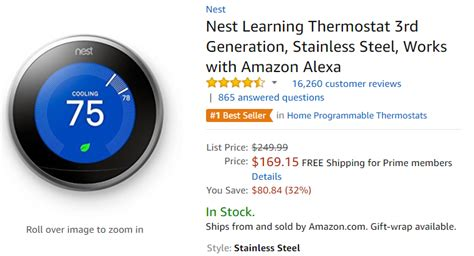 price nest thermostat – Nest Learning Thermostat T100577   GoSale Price Comparison Results