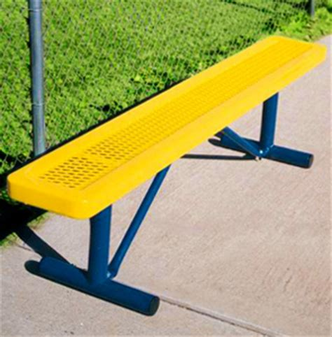 belson outdoors benches expanded metal backless benches thermoplastic coated