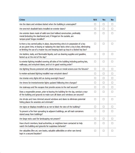 Safety Survey Template church survey template 8 free documents in