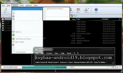 cara membuat file iso android cara membuat bootable iso dengan poweriso