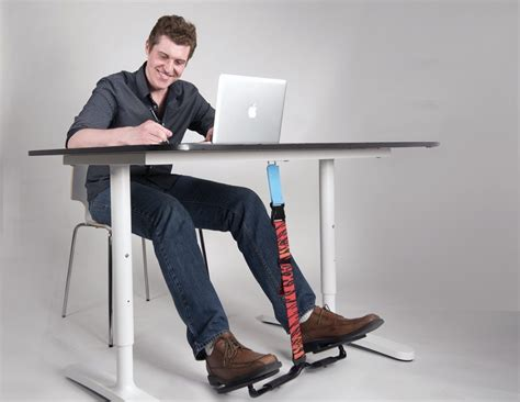 standing desk with foot swing hovr under desk foot swing review