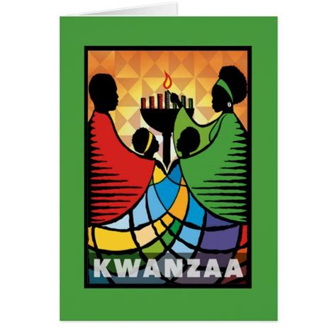 kwanzaa greeting cards printable we are one kwanzaa holiday greeting cards zazzle