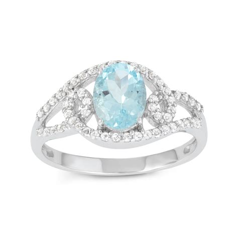 sterling silver aquamarine oval ring jewelry rings