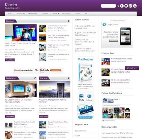 themes blogger 2014 kinder magazine blogger template 187 abtemplates com