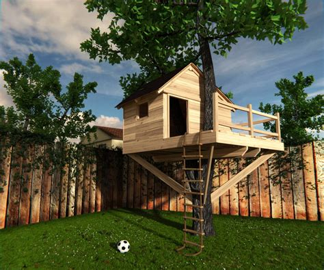 three house 3d model treehouse tree house