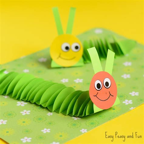 Childrens Paper Crafts - paper caterpillar craft paper circles crafts easy