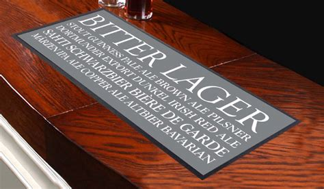 Mat Advertising by Blind Grey Design Bar Runner Great For Home Bar