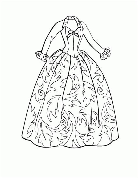 clothes coloring pages pdf barbie doll clothes coloring pages for kids great