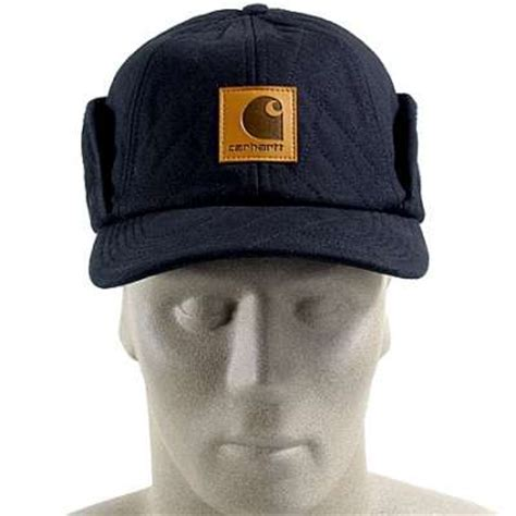 carhartt a160blk work flex insulated ear flap cap