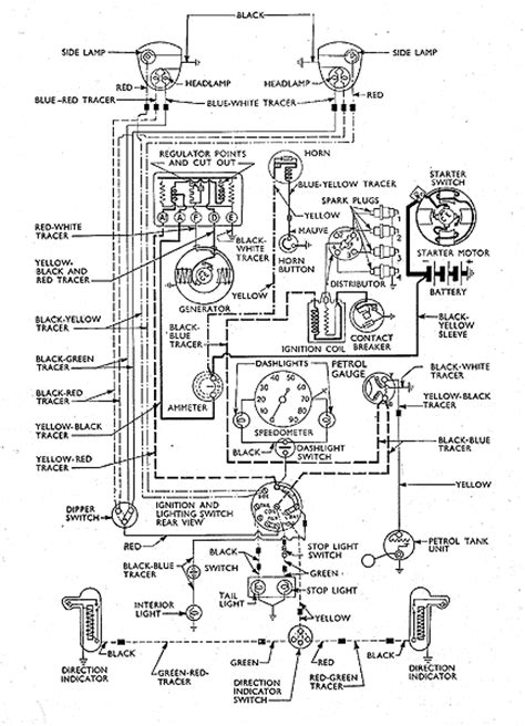 131 wiring diagram prefect 2 brush cvc system pre 1954