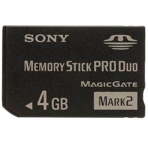 Mb Sony Memory Stick Pro Duo 2 4gb Ms Mt4g Com0485 sony 4gb memory stick pro duo mark2 mem 243 riak 225 rtya bestmarkt