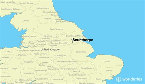 where is scunthorpe scunthorpe map